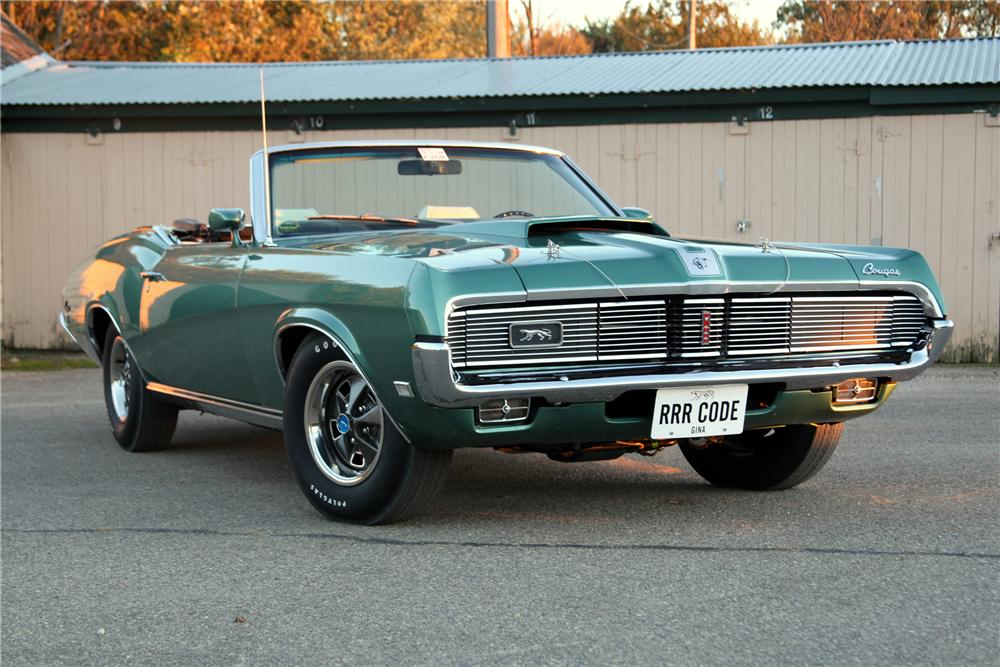 1969 MERCURY COUGAR XR7 CONVERTIBLE - Front 3/4 - 96224