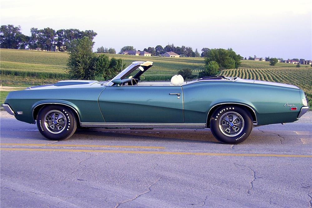 1969 MERCURY COUGAR XR7 CONVERTIBLE - Side Profile - 96224