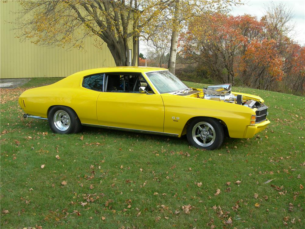 1971 CHEVROLET CHEVELLE CUSTOM 2 DOOR COUPE - Front 3/4 - 96231