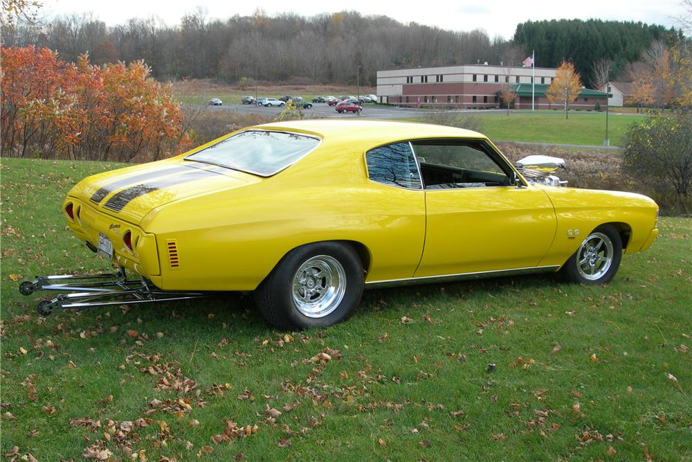 1971 CHEVROLET CHEVELLE CUSTOM 2 DOOR COUPE - Rear 3/4 - 96231
