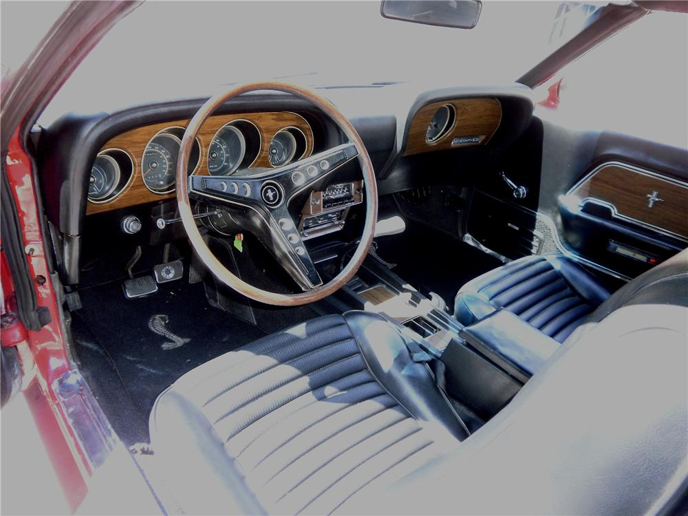 1969 FORD MUSTANG CONVERTIBLE - Interior - 96244
