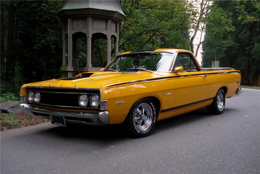 1969 FORD RANCHERO PICKUP - Front 3/4 - 96251