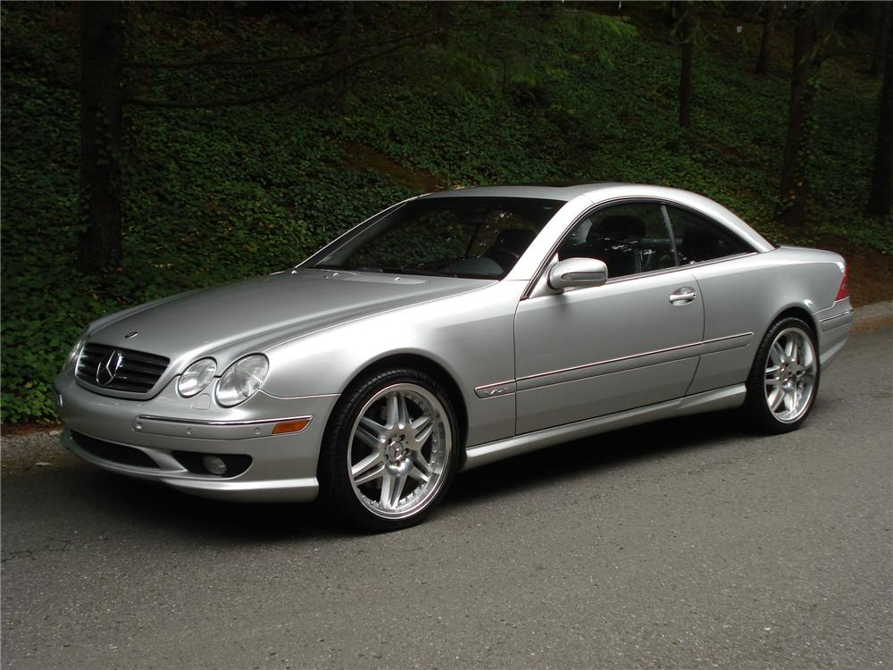 2002 Mercedes Benz Cl600 2 Door Coupe Front 3 4 96254