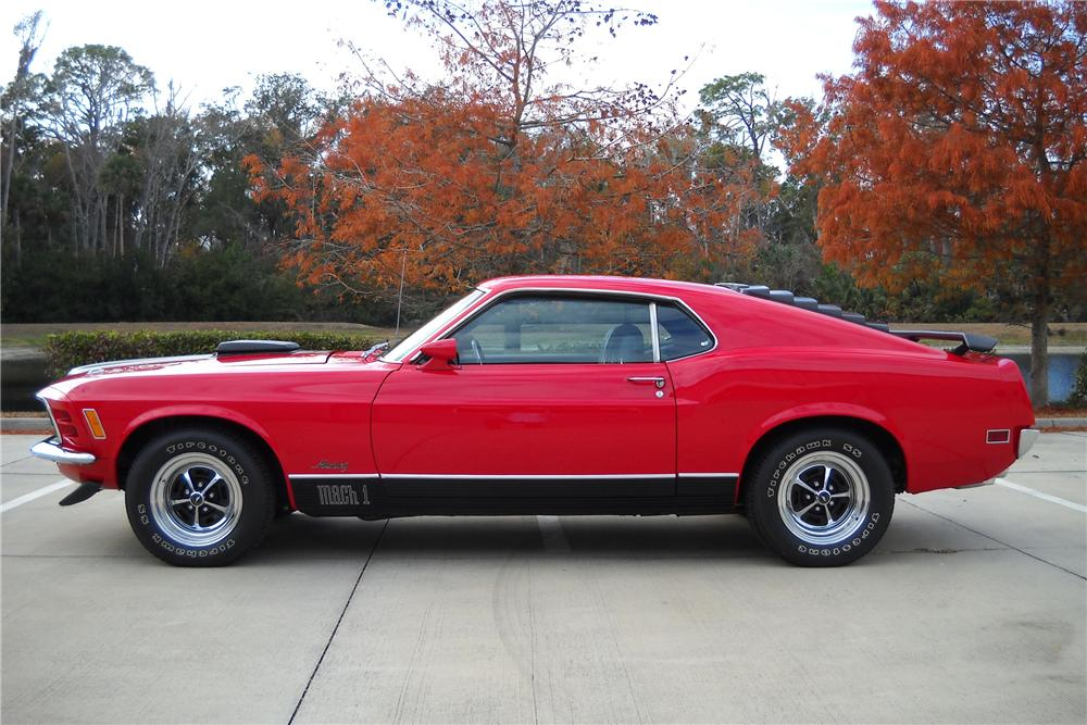 1970 FORD MUSTANG MACH 1 FASTBACK - Side Profile - 96255
