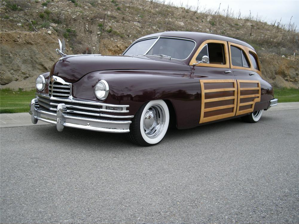 1948 PACKARD CUSTOM WOODIE WAGON - Front 3/4 - 96258