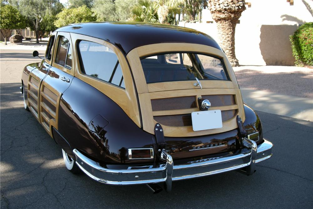 1948 PACKARD CUSTOM WOODIE WAGON - Rear 3/4 - 96258