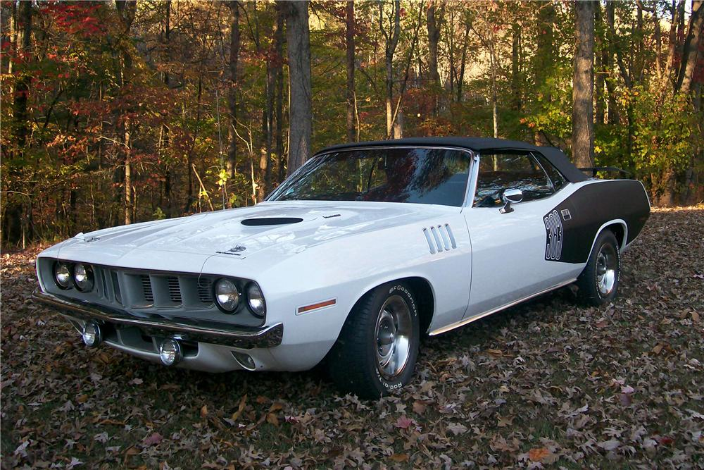 1971 PLYMOUTH CUDA CUSTOM CONVERTIBLE - Front 3/4 - 96260