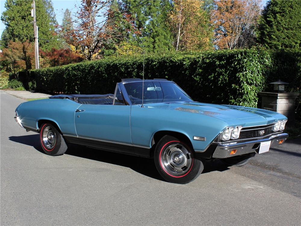 1968 CHEVROLET CHEVELLE SS 396 CONVERTIBLE - Front 3/4 - 96261