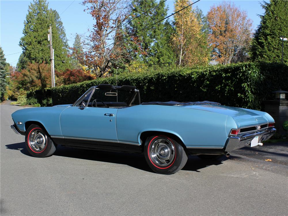 1968 CHEVROLET CHEVELLE SS 396 CONVERTIBLE - Rear 3/4 - 96261