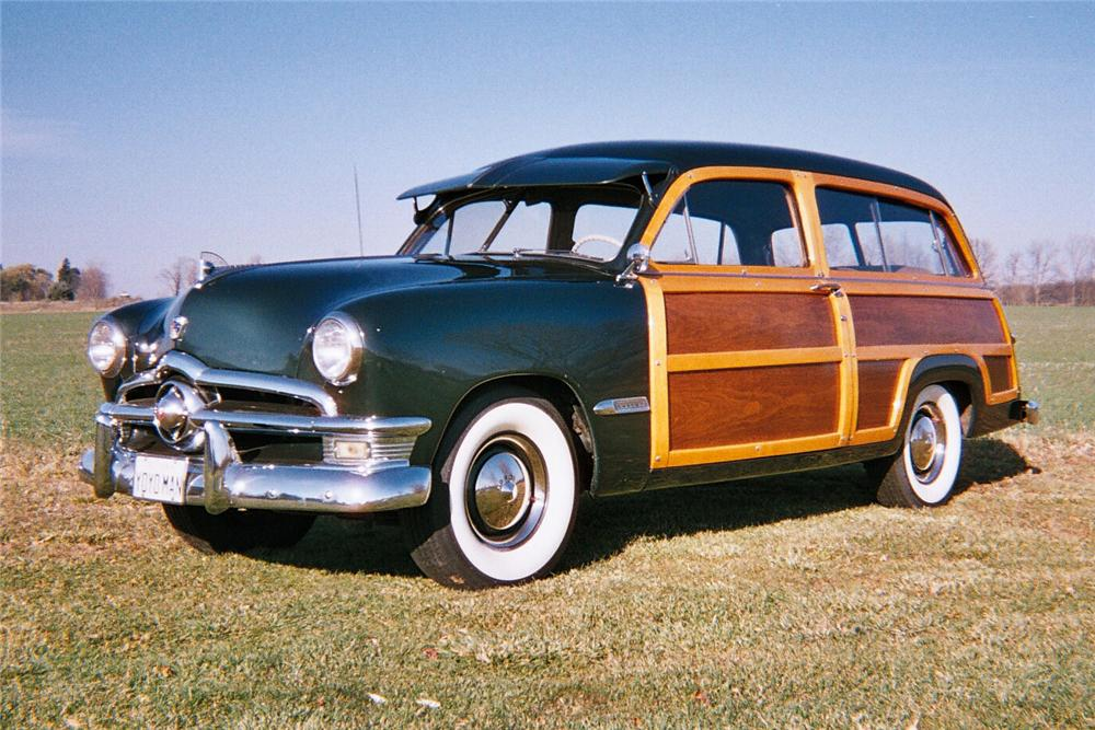1950 FORD 2 DOOR WOODY WAGON - Front 3/4 - 96263