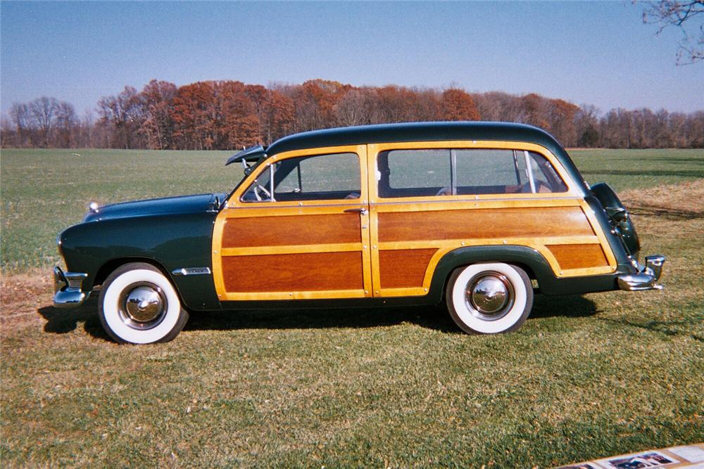 1950 FORD 2 DOOR WOODY WAGON - Side Profile - 96263