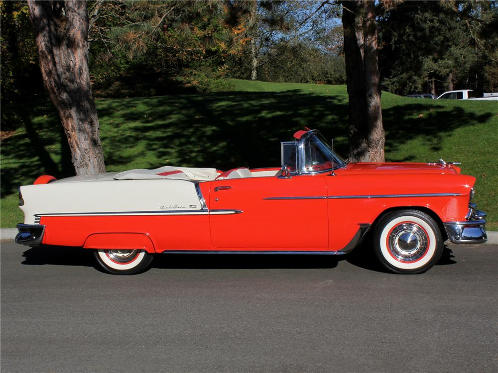 1955 CHEVROLET BEL AIR CONVERTIBLE - Side Profile - 96264