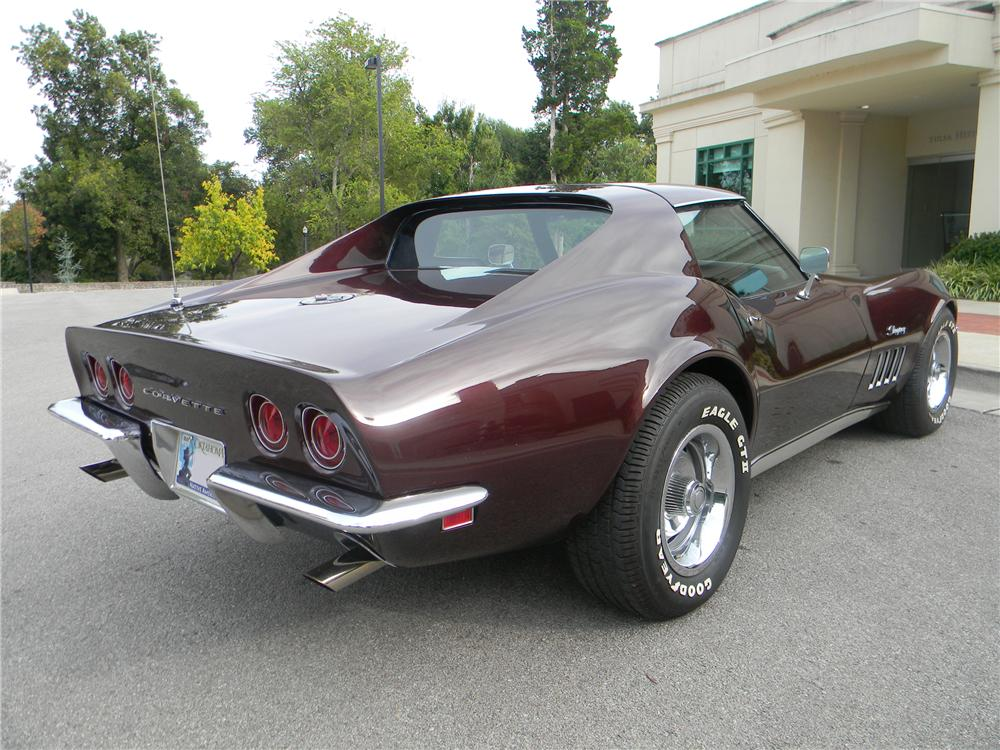 1969 CHEVROLET CORVETTE COUPE - Rear 3/4 - 96286