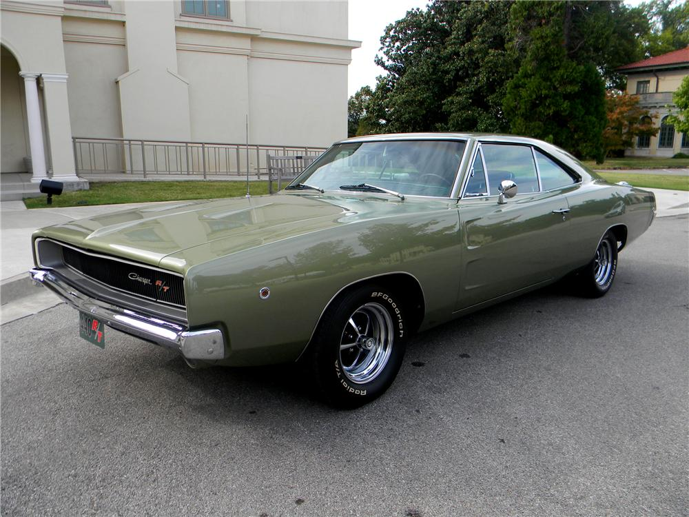 1968 DODGE CHARGER R/T 2 DOOR HARDTOP - Front 3/4 - 96287