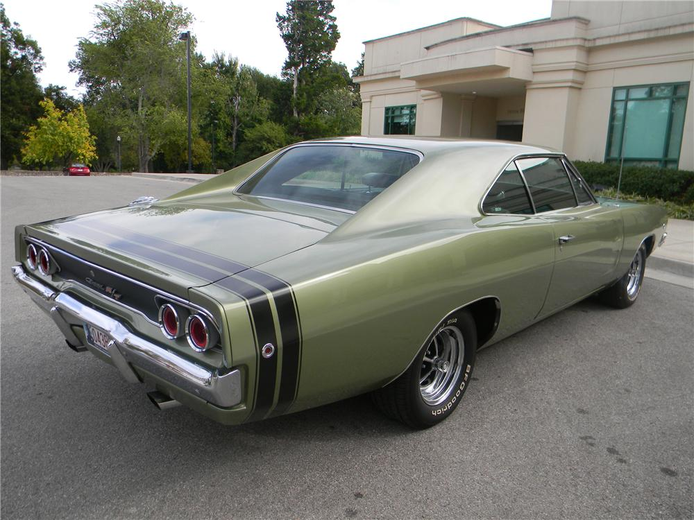 1968 DODGE CHARGER R/T 2 DOOR HARDTOP - Rear 3/4 - 96287