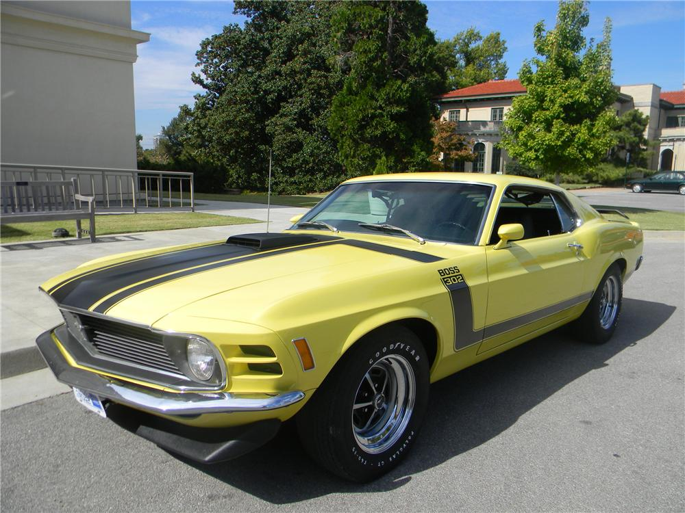 1970 FORD MUSTANG BOSS 302 FASTBACK - Front 3/4 - 96290