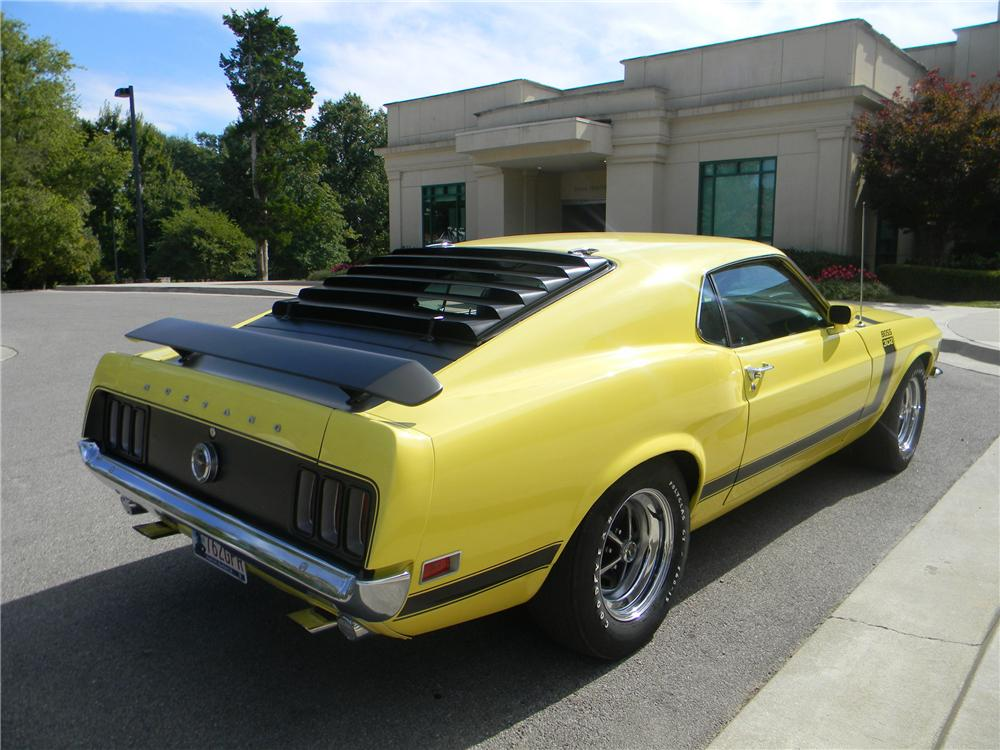 1970 FORD MUSTANG BOSS 302 FASTBACK - Rear 3/4 - 96290