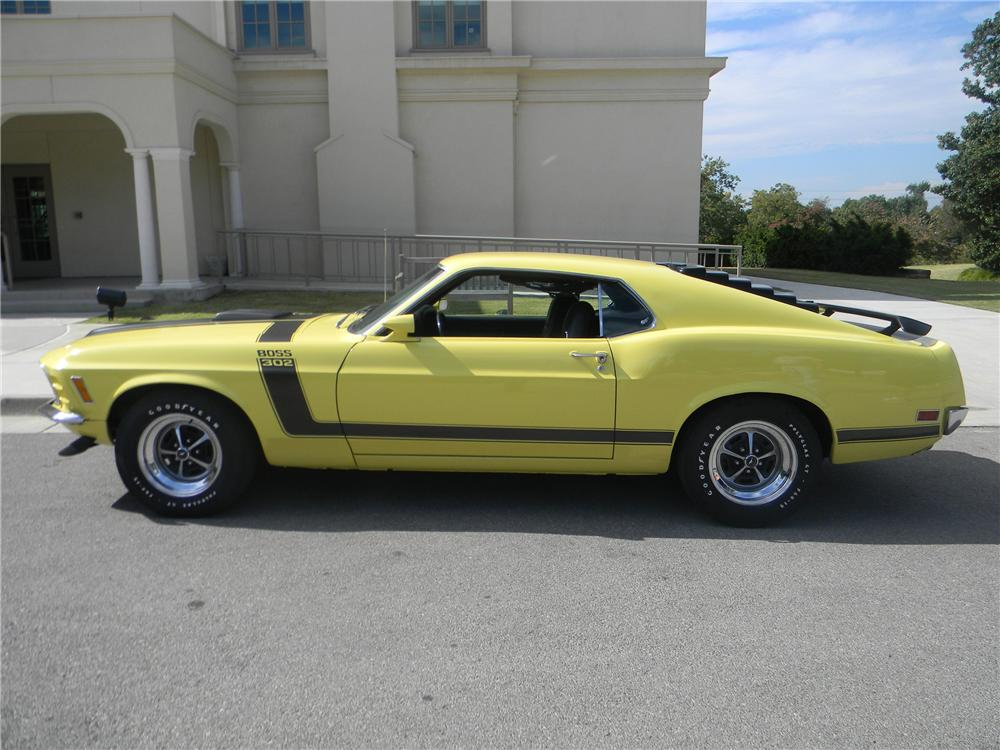 1970 FORD MUSTANG BOSS 302 FASTBACK - Side Profile - 96290
