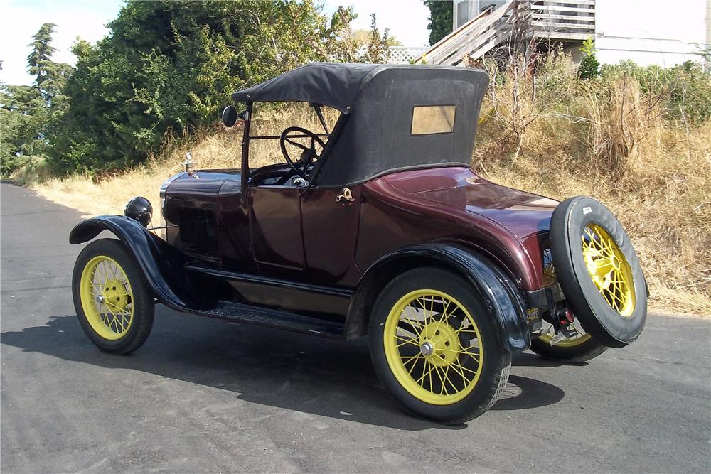 1927 FORD MODEL T ROADSTER - Rear 3/4 - 96293