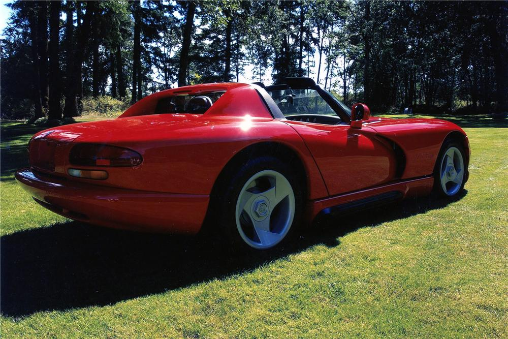 1994 DODGE VIPER ROADSTER - Rear 3/4 - 96297