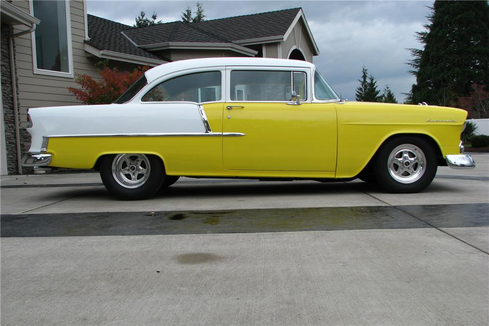 1955 CHEVROLET 210 CUSTOM 2 DOOR POST - Side Profile - 96302