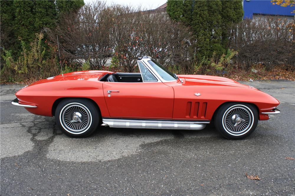 1965 CHEVROLET CORVETTE CONVERTIBLE - Side Profile - 96304