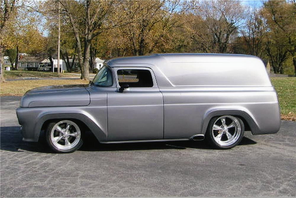 1957 FORD DELIVERY CUSTOM VAN - Side Profile - 96307