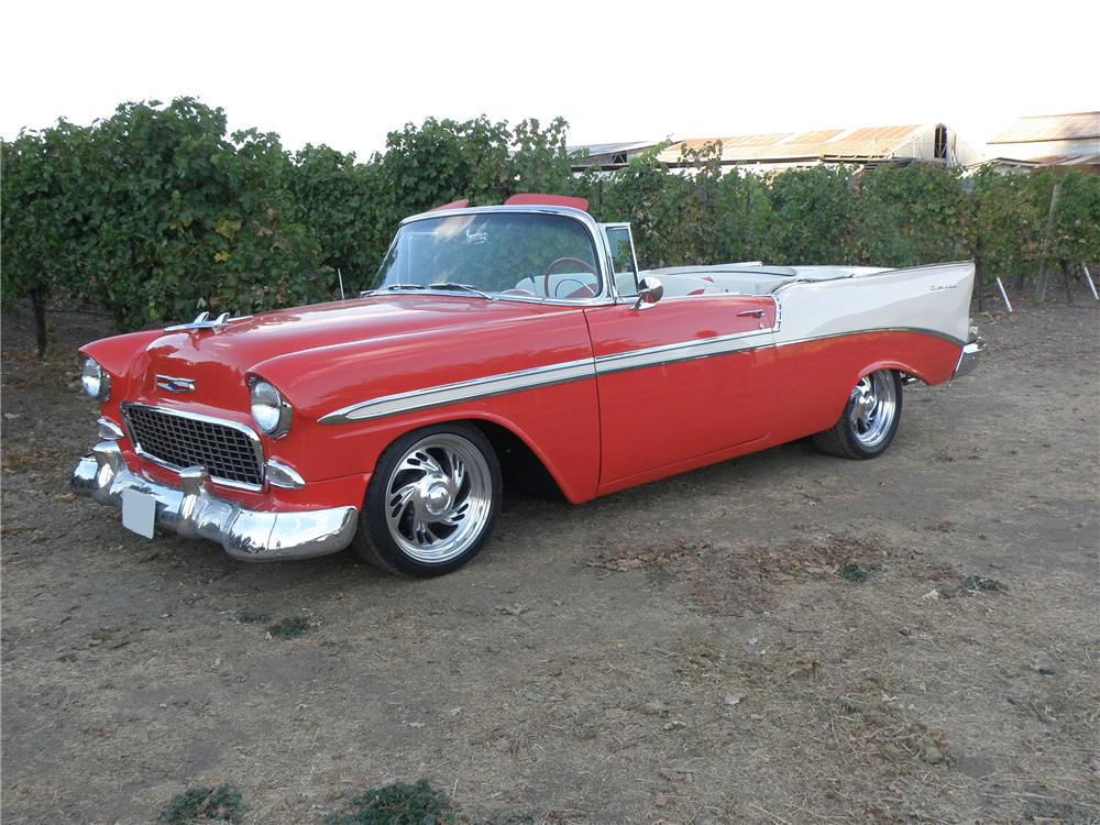 1955 CHEVROLET BEL AIR CUSTOM CONVERTIBLE - Side Profile - 96311