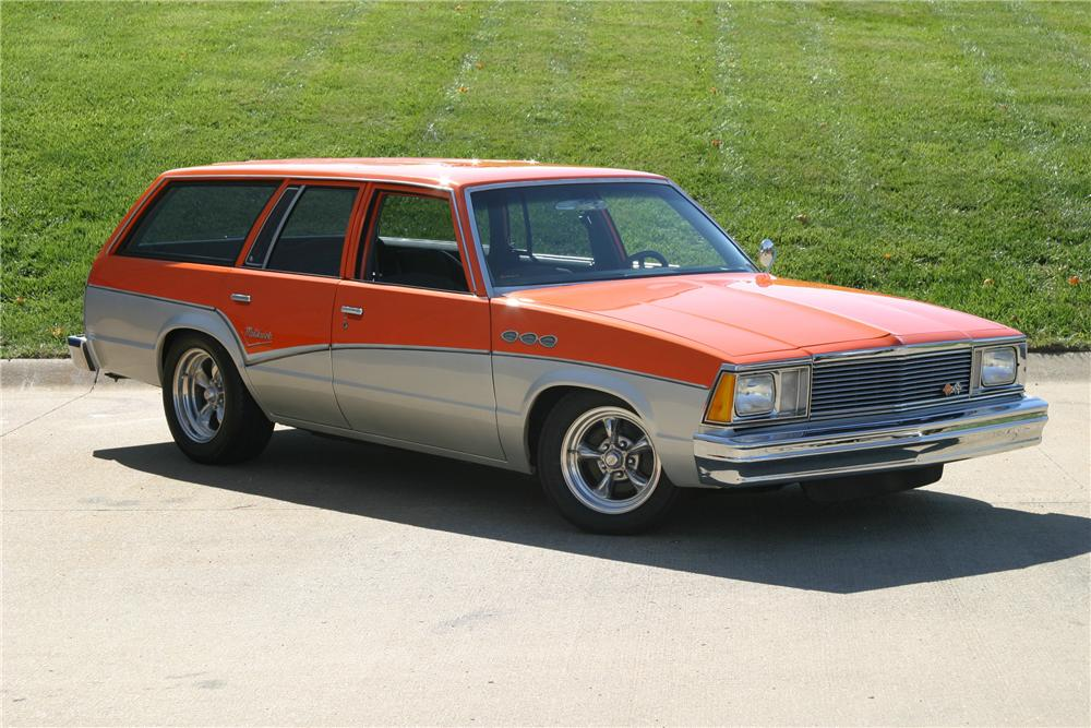 1980 CHEVROLET MALIBU CUSTOM STATION WAGON - Front 3/4 - 96315