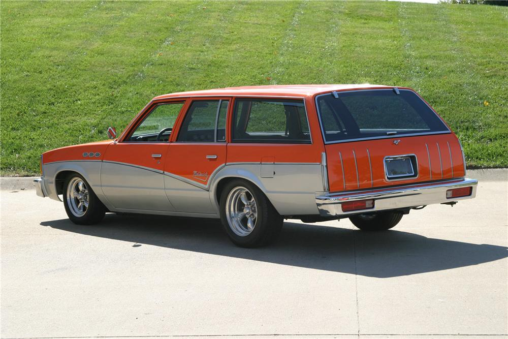 1980 CHEVROLET MALIBU CUSTOM STATION WAGON - Rear 3/4 - 96315