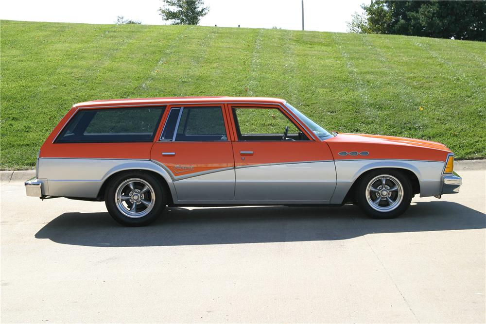 1980 CHEVROLET MALIBU CUSTOM STATION WAGON - Side Profile - 96315