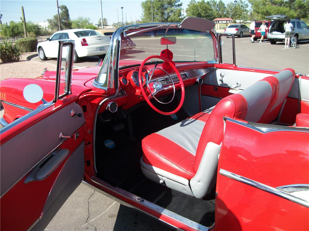 1957 CHEVROLET BEL AIR CONVERTIBLE - Interior - 96320