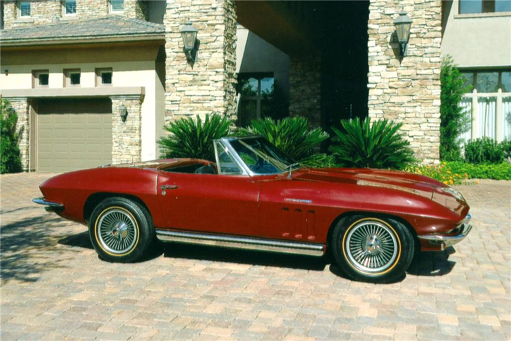 1965 CHEVROLET CORVETTE CONVERTIBLE - Side Profile - 96333