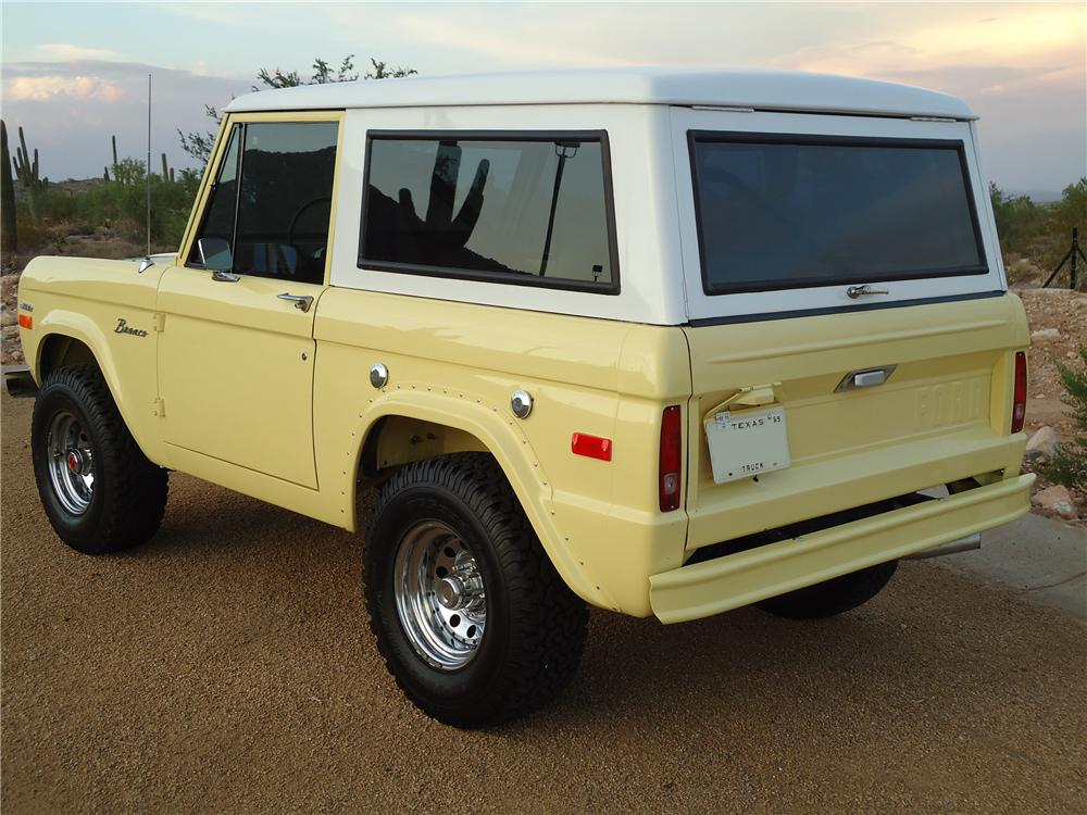 1969 FORD BRONCO SUV - Rear 3/4 - 96335