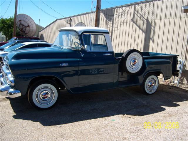 1958 GMC 1/2 TON PICKUP - Side Profile - 96339