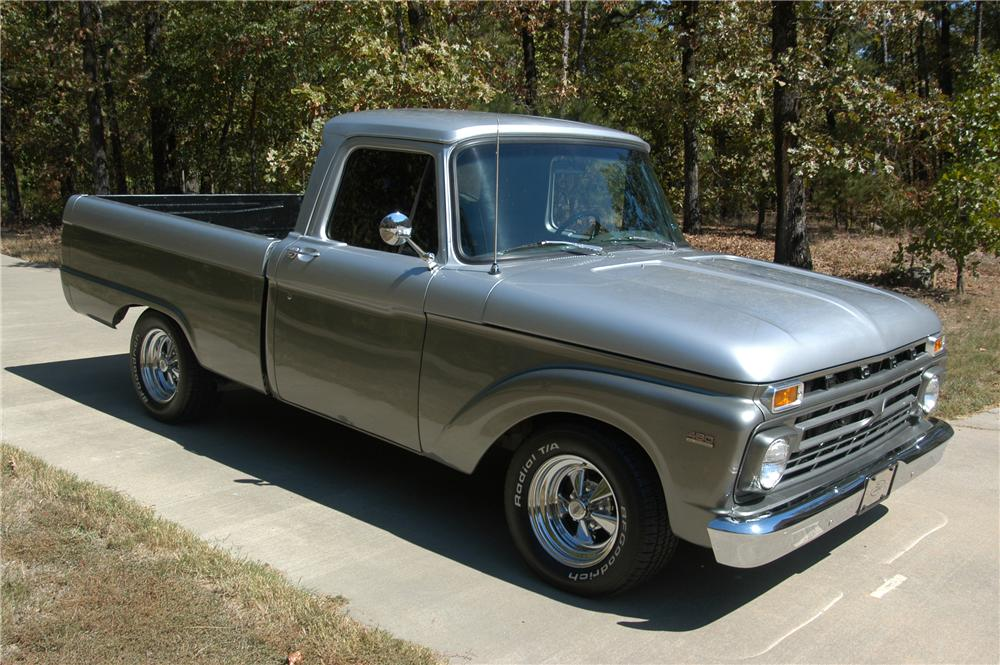 1966 FORD F-100 CUSTOM PICKUP - Front 3/4 - 96341