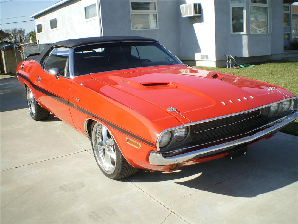 1970 DODGE CHALLENGER CUSTOM CONVERTIBLE - Front 3/4 - 96343