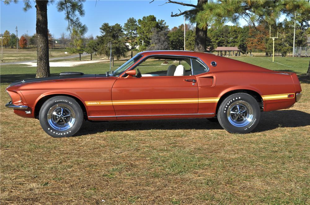 1969 FORD MUSTANG MACH 1 428 SCJ 2 DOOR FASTBACK - Side Profile - 96348