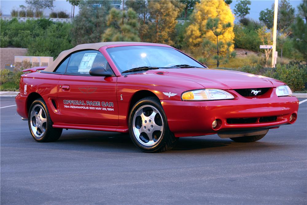 1994 FORD MUSTANG COBRA SVT CONVERTIBLE - Front 3/4 - 96394