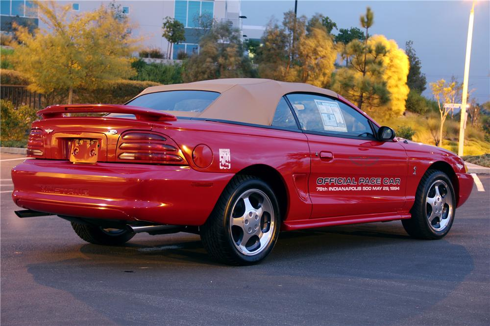 1994 FORD MUSTANG COBRA SVT CONVERTIBLE - Rear 3/4 - 96394