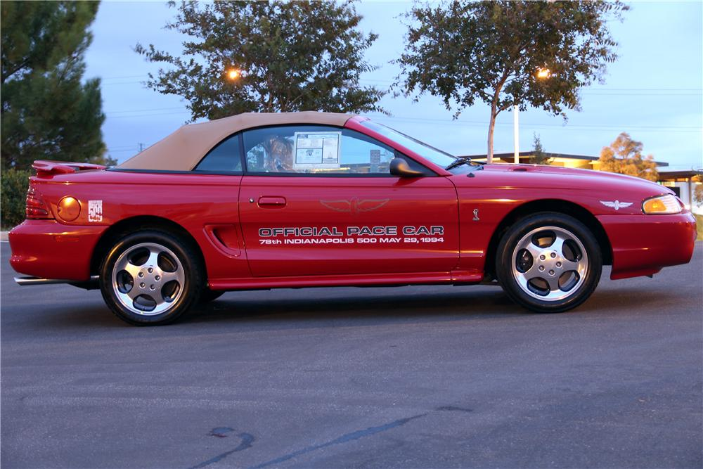 1994 FORD MUSTANG COBRA SVT CONVERTIBLE - Side Profile - 96394