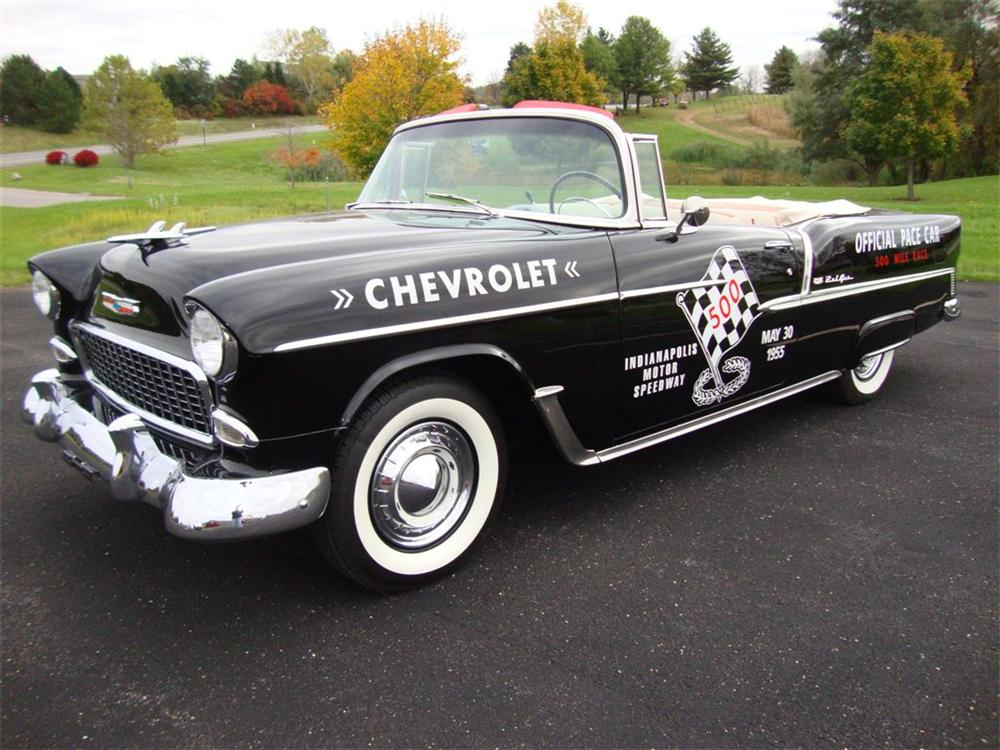 1955 CHEVROLET BEL AIR CONVERTIBLE PACE CAR TRIBUTE - Front 3/4 - 96398