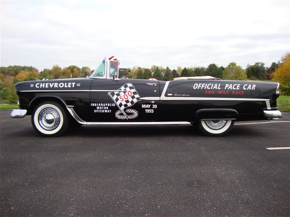 1955 CHEVROLET BEL AIR CONVERTIBLE PACE CAR TRIBUTE - Side Profile - 96398
