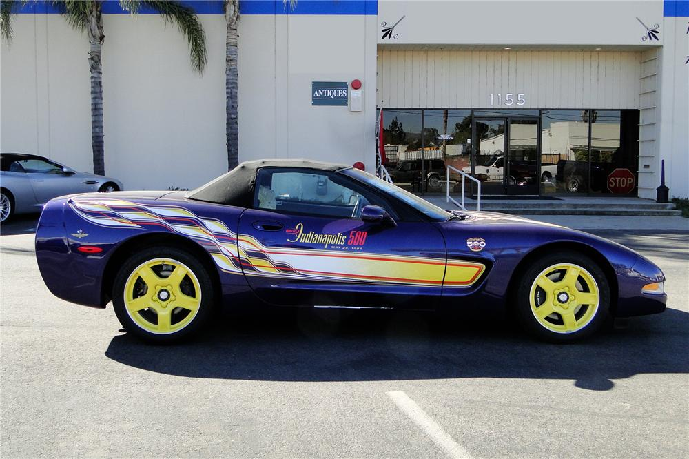 1998 CHEVROLET CORVETTE CONVERTIBLE PACE CAR - Front 3/4 - 96399