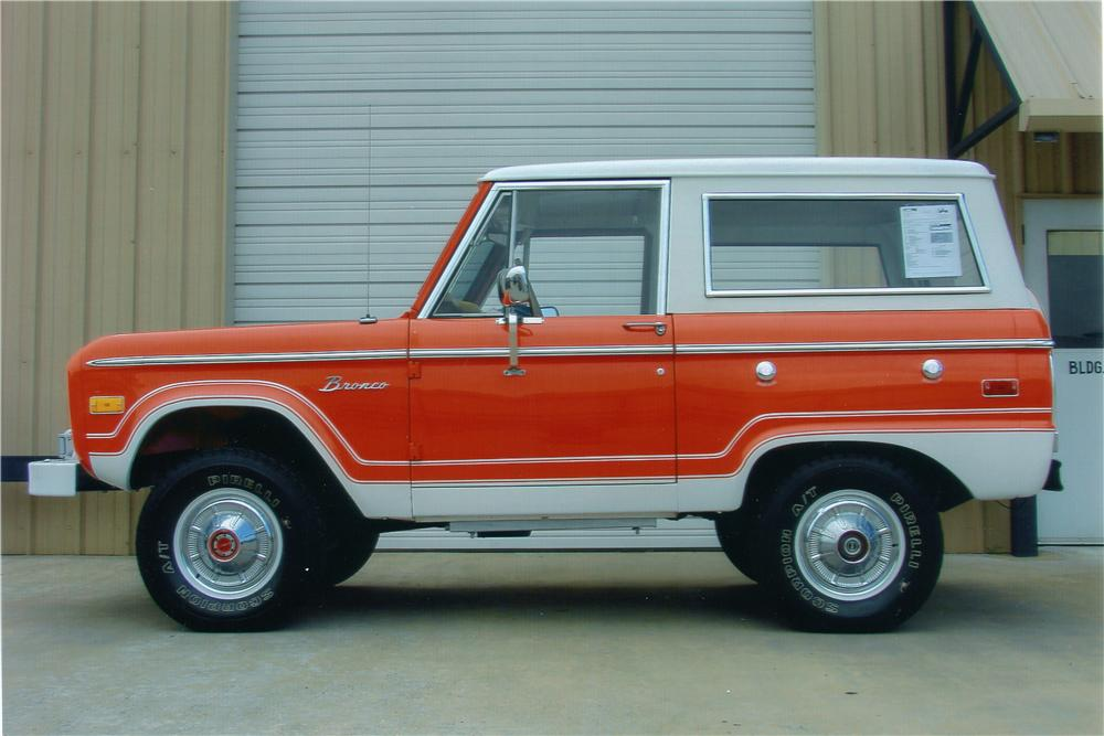 1976 FORD BRONCO SUV - Side Profile - 96406