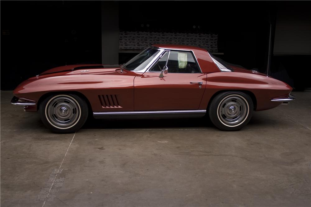 1967 CHEVROLET CORVETTE CONVERTIBLE - Side Profile - 96408