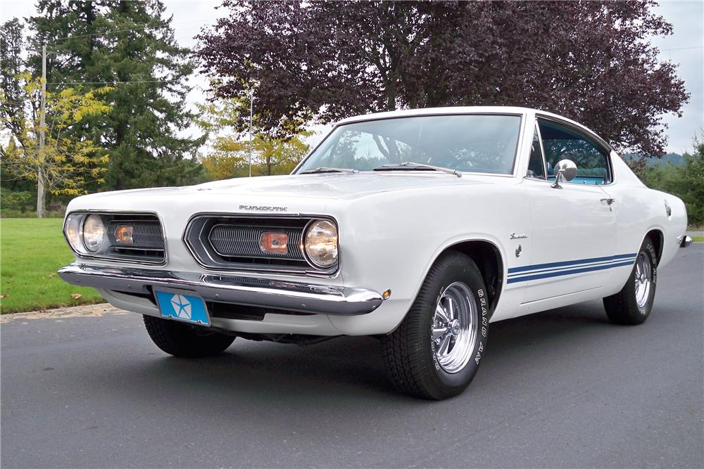 1968 PLYMOUTH BARRACUDA FASTBACK - Front 3/4 - 96411