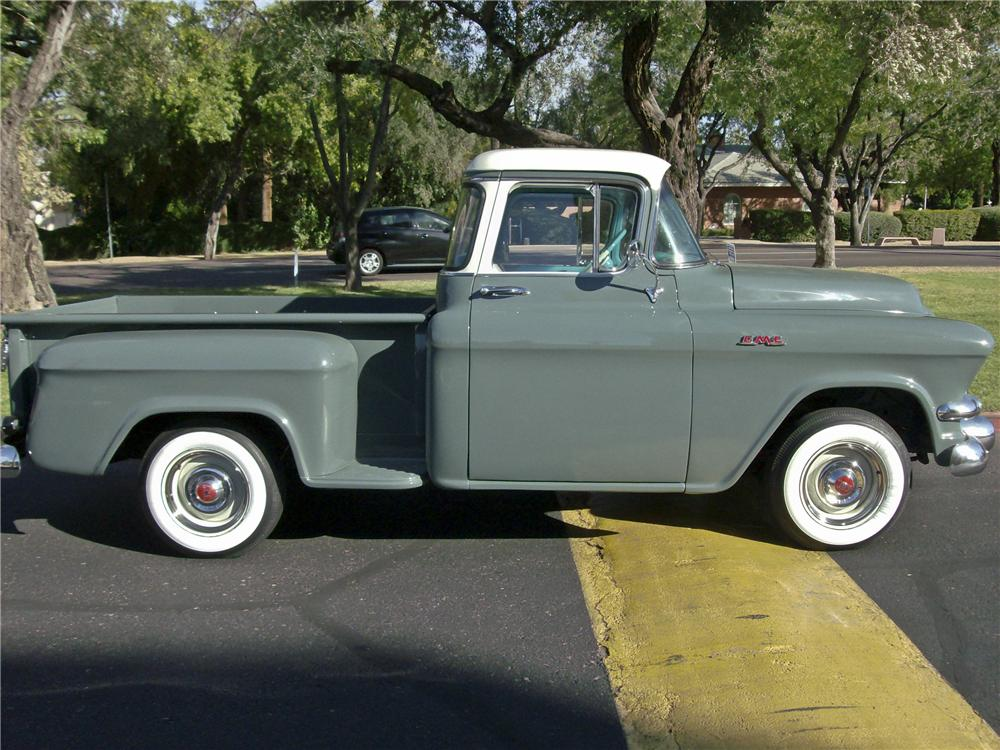 1956 GMC 100 1/2 TON PICKUP - Side Profile - 96414