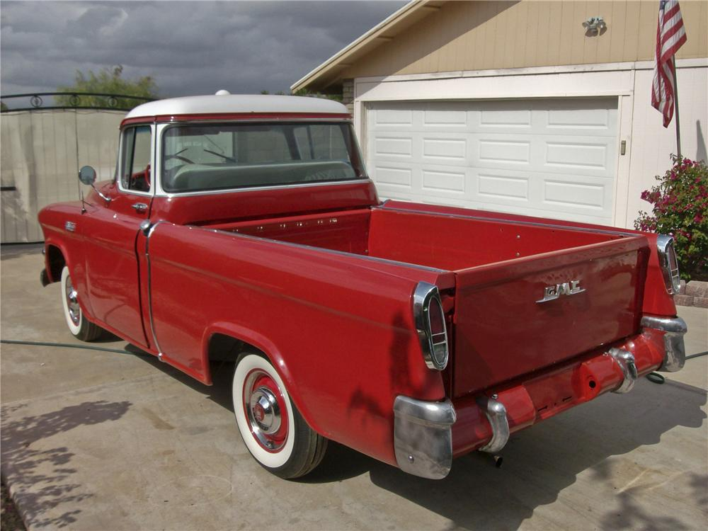 1955 GMC SUBURBAN 1/2 TON PICKUP - Rear 3/4 - 96416