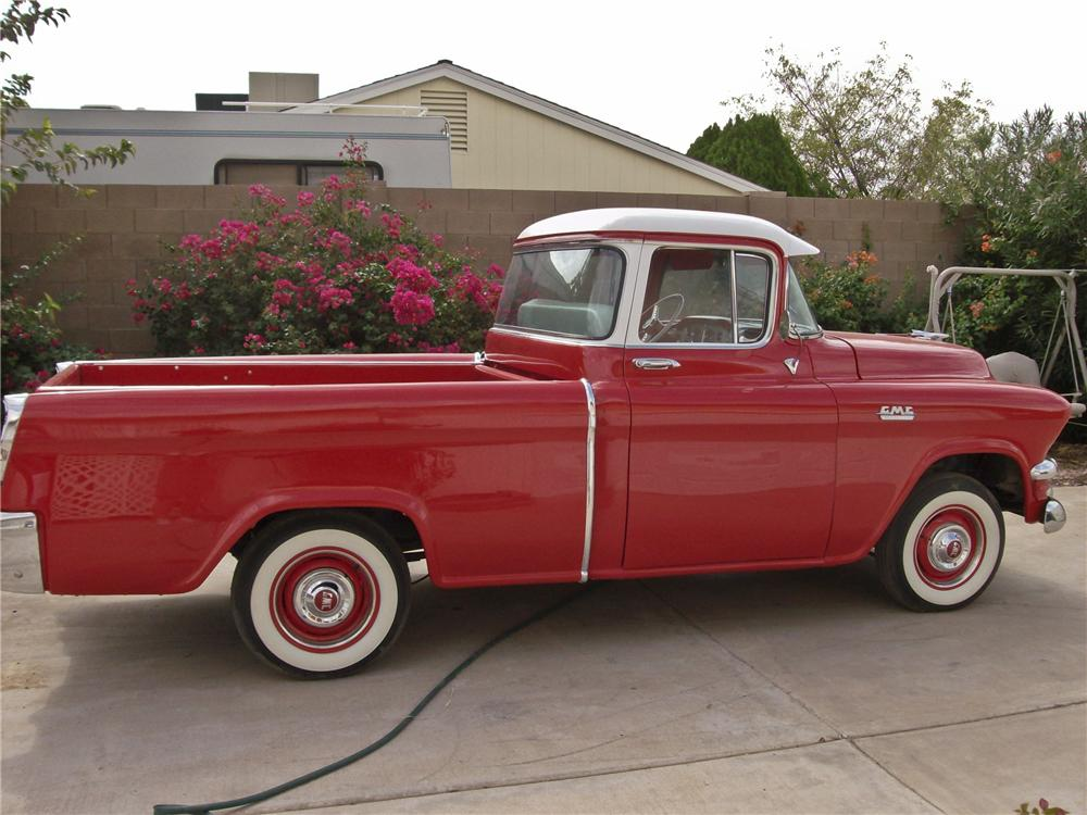 1955 GMC SUBURBAN 1/2 TON PICKUP - Side Profile - 96416
